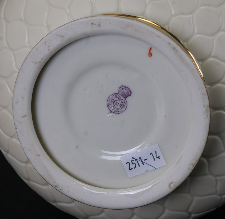 A Royal Worcester Aesthetics period ewer with tube lined decoration in the form of passionflowers, - Image 2 of 3