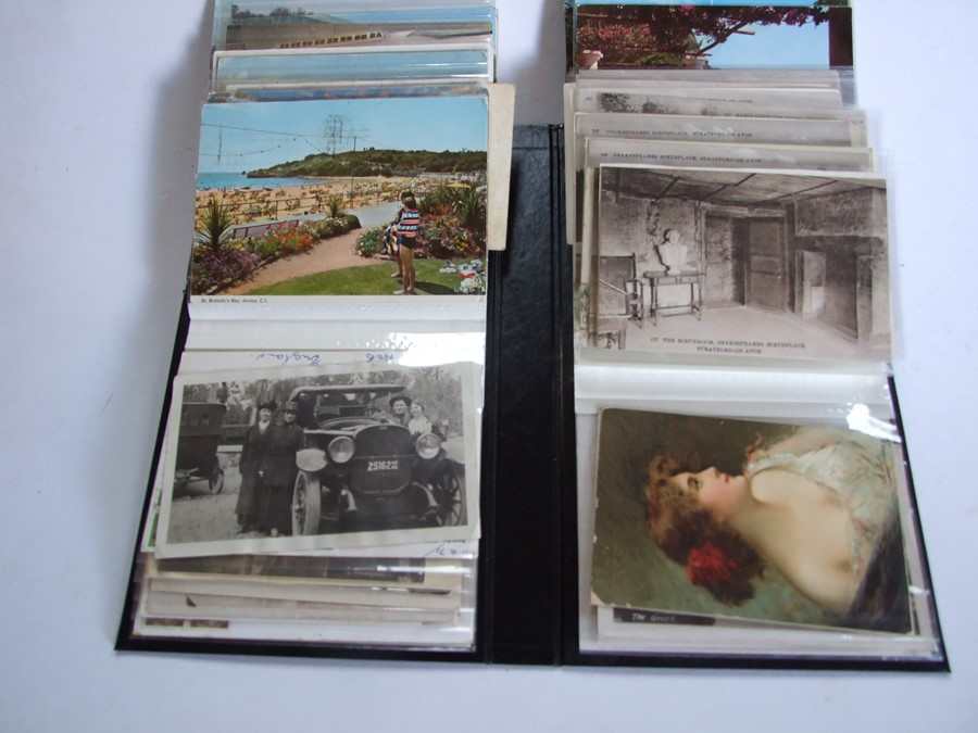 Approximately 200 early to mid 20th century Military postcards and photographs contained in a red - Image 5 of 19