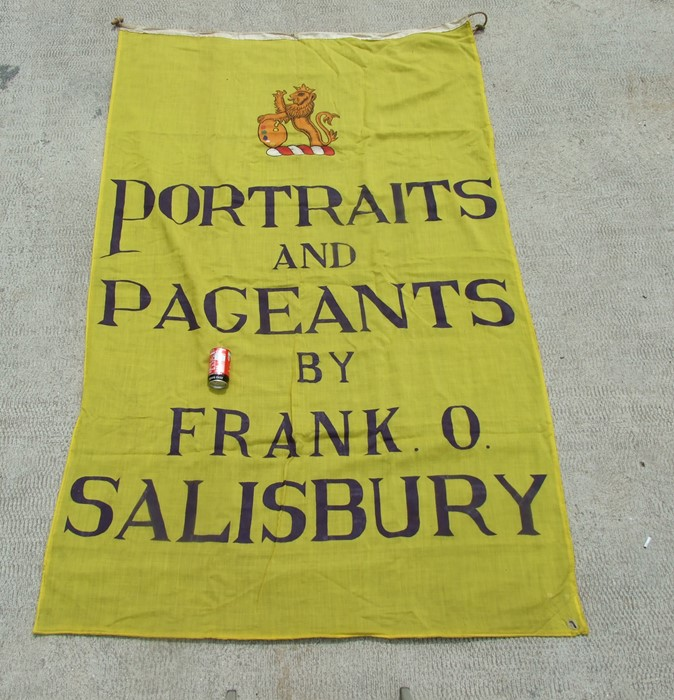 Frank O Salisbury interest (1874-1962), A large flag / pennant - 'Portraits and Pageants by Frank