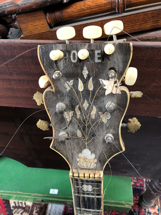 A late 1950's Hofner Committee hollow body F hole jazz guitar for restoration. - Image 3 of 3
