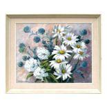 Irene Ainsworth-Davis (20th century British) - Still Life of Daisies - signed lower left, oil on