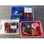 A quantity of assorted workshop and car spares including rear light lenses, gauges, reflectors,