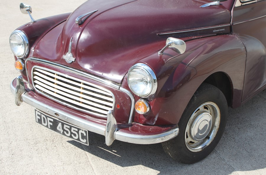 A 1965 Morris Minor 1000 four-door saloon, registration no. FDF 455C, chassis no. M/A55D1121593, - Image 7 of 10
