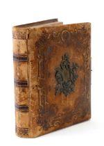 A 19th century leather bound musical carte de visite album (contains no photos).