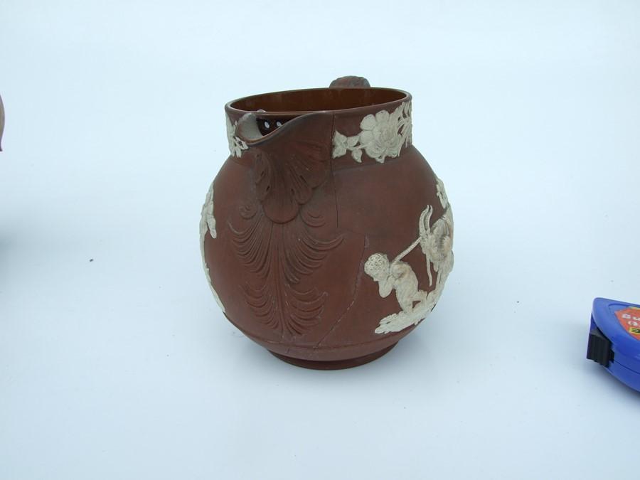 A 19th century stoneware commemorative mug depicting Wellington; together with two Jasperware - Image 8 of 10