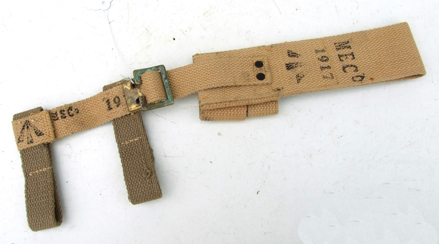 An unissued 08 Pattern bayonet frog with helve strap and carrier. Marked to the reverse of the - Image 2 of 2