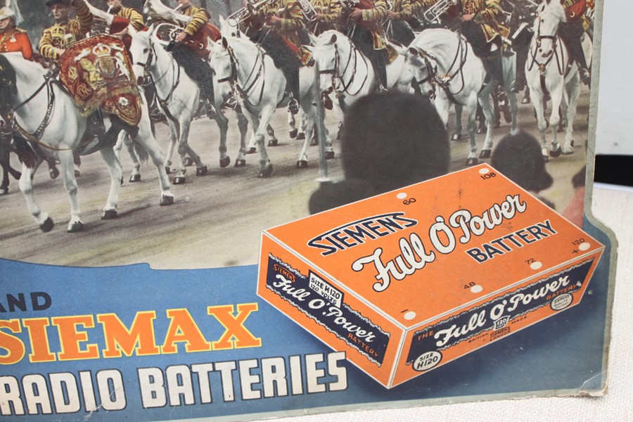 A Siemax Radio Batteries advertising point of sale strut counter top display board - You Hear - Image 3 of 3