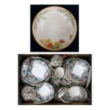 A large quantity of Royal Cauldon Victoria Pattern dinner and tea wares; together with a Crown Ducal