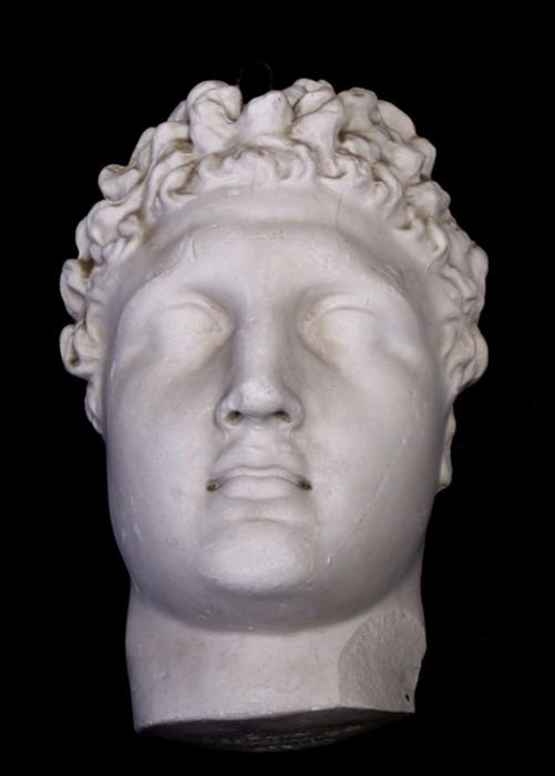 After the antique. A plaster cast mould of Michael Angelo's David, signed 'D Brucciani & Co. London'