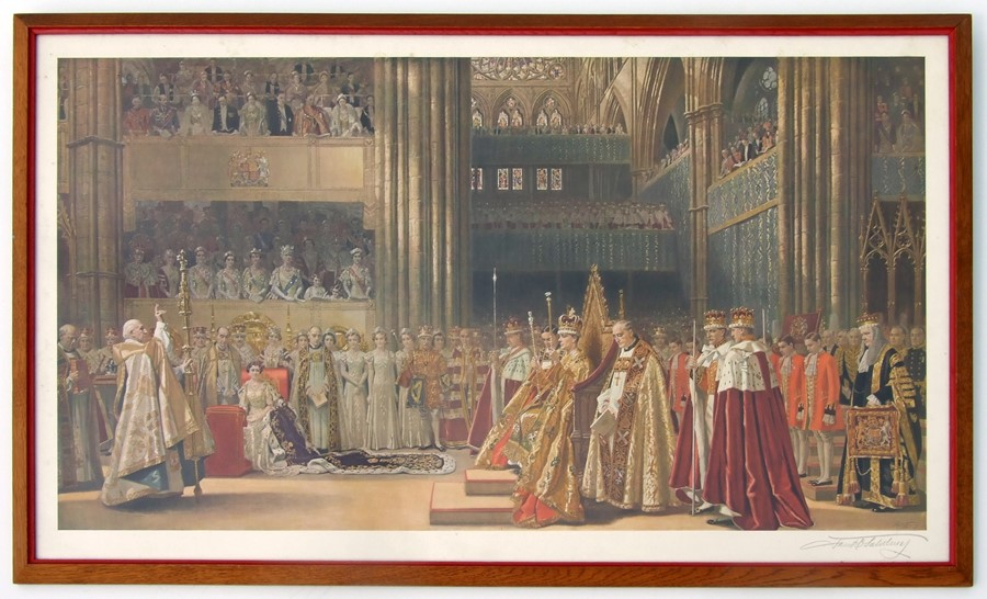 Frank O Salisbury (1874-1962) - The Coronation of their Majesties King George VI and Queen Elizabeth