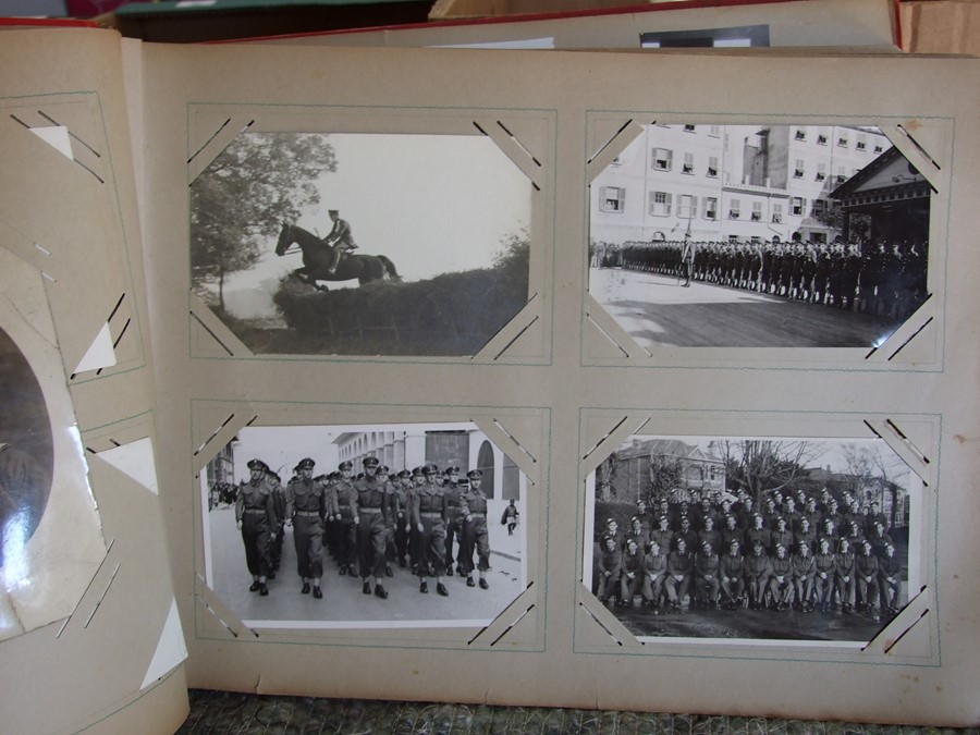 Approximately 200 early to mid 20th century Military postcards and photographs contained in a red - Image 11 of 19