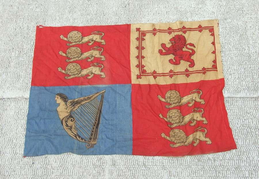 A Royal Standard flag 51 by 95cm (20 by 37.5 ins)