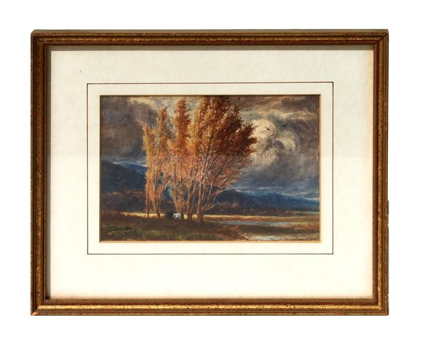 John Johnson (exhb. 1883-1895) - Fernhill-Treffyn North Wales - watercolour, signed & dated lower