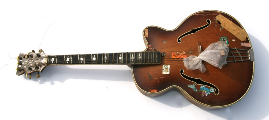 A late 1950's Hofner Committee hollow body F hole jazz guitar for restoration.
