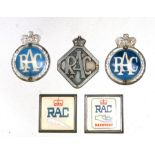 Assorted Royal Automobile Club (RAC) Commercial and Member's badges.