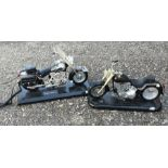 A novelty telephone in the form of a Harley Davidson motorbike, 36cms (14ins) wide; together with