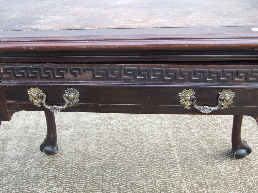 An 18th century (possibly Irish) mahogany writing table, the rectangular top inset with a later - Image 7 of 12