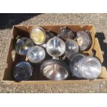 A pair if Raydyot Spot Lamps, 15cms (6ins) diameter; together with other spot lamps including