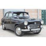 A 1955 Austin A90 Six Westminster, registration number TOD 57, black, chassis number BS4-14198,