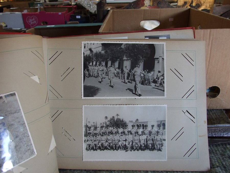 Approximately 200 early to mid 20th century Military postcards and photographs contained in a red - Image 14 of 19
