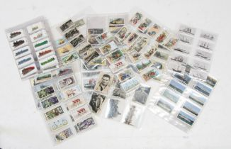 A quantity of assorted transport related cigarette and trade cards to include shipping, motor sport,