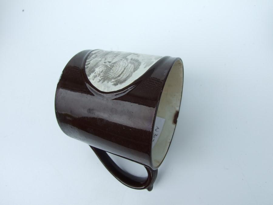 A 19th century stoneware commemorative mug depicting Wellington; together with two Jasperware - Image 6 of 10