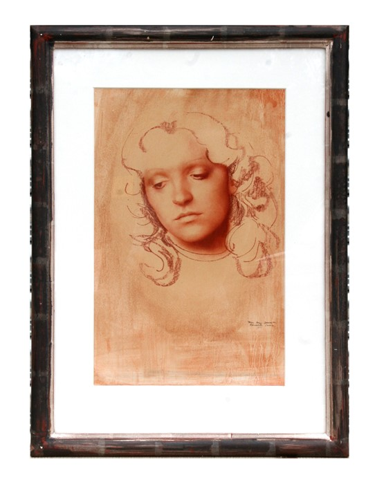 Trevor Percy Lancaster - Portrait of a Young Girl - watercolour, signed & dated lower right, with