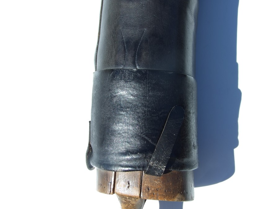 A pair of black leather riding boots with wooden trees.Condition ReportSole measures 29cms and the - Image 10 of 10