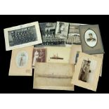 An assortment of 19th and 20th century Military photographs, mainly mounted on card. (23 in