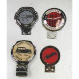 Four badge bar badges, Thirty - Forty Motor Club (1930-1940), Greylake MG Drivers Club, Vintage