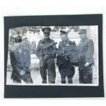 An original 1945 signed photograph from left to right by American Two Star Lieutenant General