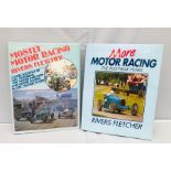 Fletcher (Rivers), Mostly Motor Racing, and More Motor Racing, both 1st editions with dust