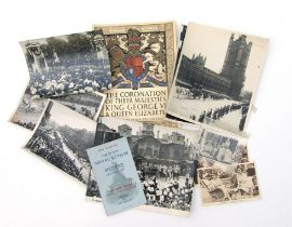 King George VI & Queen Elizabeth press agency photographs (6 in total) the largest being 25.5cms (