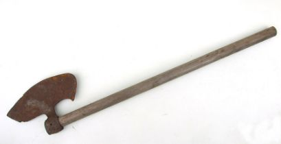 A large steel axe, blade width 29cms (11.25ins).