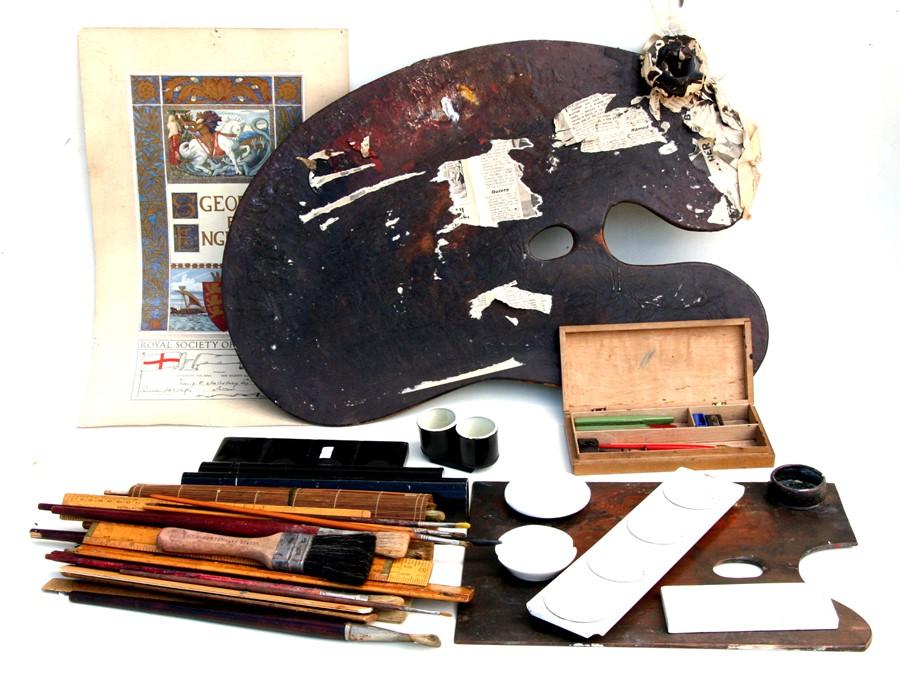 Frank Owen Salisbury (British 1874-1962) - contents of his studio to include watercolour - Image 2 of 3