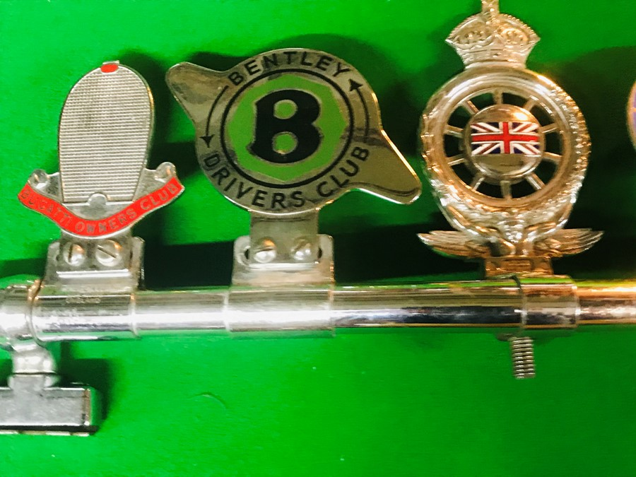Five badge bar badges, for Bugatti Owners Club, Bentley Drivers Club, Royal Automobile Club - Image 3 of 3