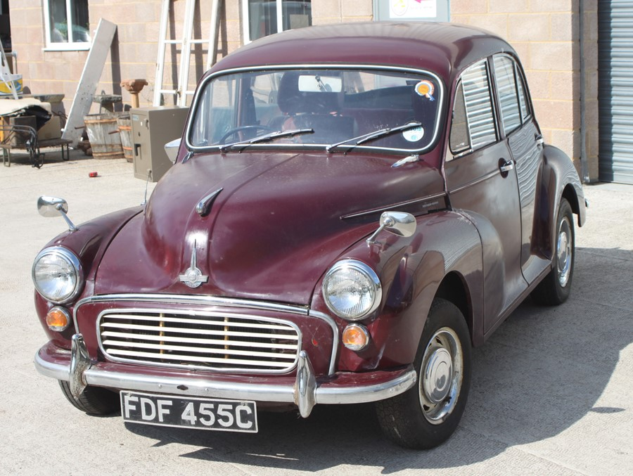 A 1965 Morris Minor 1000 four-door saloon, registration no. FDF 455C, chassis no. M/A55D1121593, - Image 6 of 10