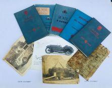 Assorted Owner's handbooks for various models including Rover 3L, Austin A110 Westminster, Austin