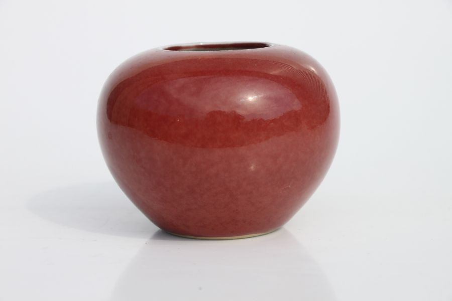 A Chinese red glazed brush washer of compressed globular form, 6cms high.Condition ReportVery - Image 8 of 10