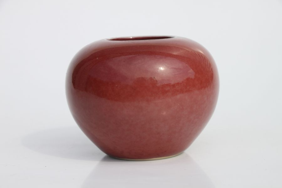 A Chinese red glazed brush washer of compressed globular form, 6cms high.Condition ReportVery - Image 7 of 10