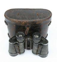 A pair of WWI Carl Zeiss Jena 6x30 binoculars, cased.