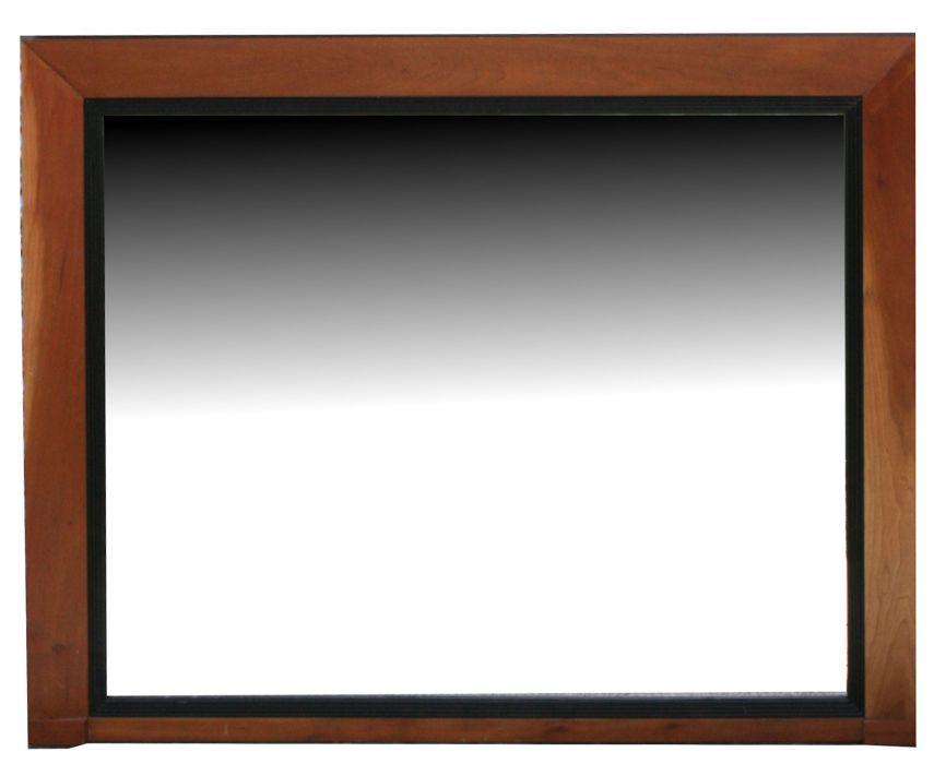 A modern design overmantle mirror, 111cms wide.