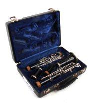 A Bundy Resonite Selmer Company clarinet, cased.