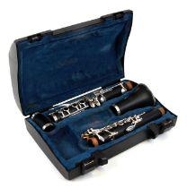 A John Packer Ltd 121 Mk IV clarinet, cased (missing mouth piece).