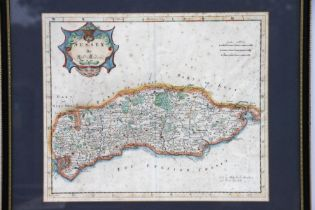 Morden (Robert) - Sussex - a hand coloured map, sold by Abel Swale, Awnsham & John Churchill ,