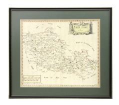 Morden (Robert) - Barkshire - a hand coloured map, printed by Abel Swall and Awnsham & John