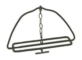 A cast iron inglenook pan hook, 45cms high.