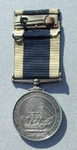 A Royal Navy Long Service Good Conduct Medal named to JX.836798. M.F.E.DEVERELL. L.R.O. HMS. ST.