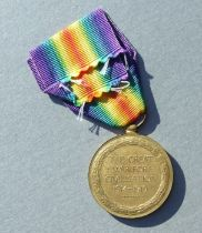 A WWI Victory Medal named to P5769 L/CR H.J.BRANCH. M.F.P.