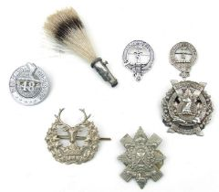 Scottish cap badges including Black Watch, Toronto Scottish, 48th Highlanders, Gordon Highlanders,